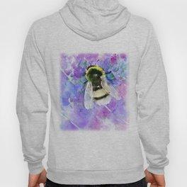 Bumblebee and Lavender Flowers Herbal Bee Honey Purple Floral design Hoody