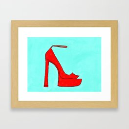 Red Shoe Framed Art Print