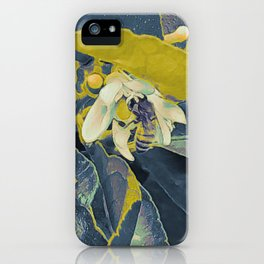 Bee in a Lime tree iPhone Case