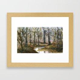 Meander Framed Art Print