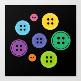 Colorful Rainbow Buttons Canvas Print