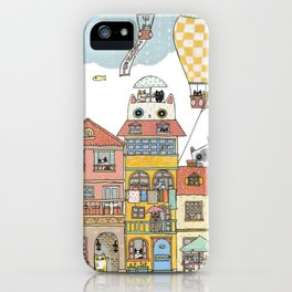 79 Cats in Harbor City iPhone Case