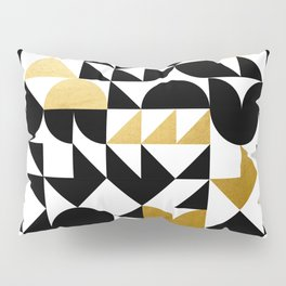 geometric black & gold Pillow Sham