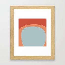 Miracle Rock in Orange & Blue _Block Colour Framed Art Print