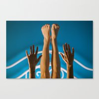earthbound Canvas Prints featuring earthbound mermaid  by Zora Iuga