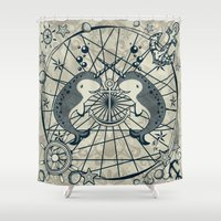 narwhal Shower Curtains featuring Narwhal by AmKiLi