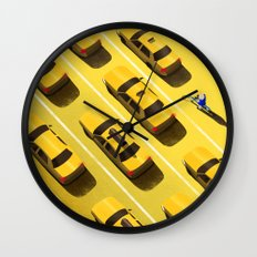 New York Cabs Wall Clock