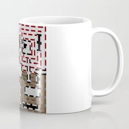 The pattern of broken lines Coffee Mug