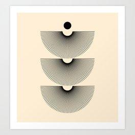Abstraction_SUNSHINE_LINE_POP_ART_Minimalism_001J Art Print