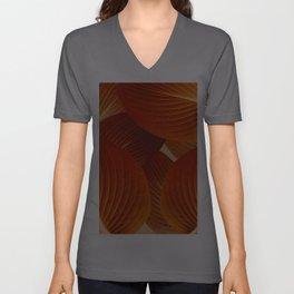 Leaves in Terracotta Color #decor #society6 #buyart Unisex V-Ausschnitt