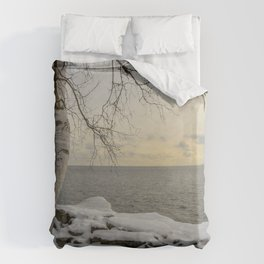 Curves of the Silver Birch by Teresa Thompson Duvet Cover