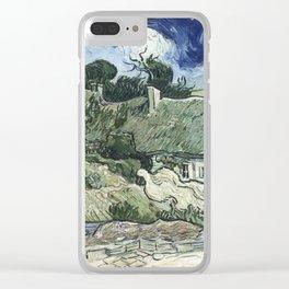 Vincent Van Gogh - Thatched Cottages at Cordeville Clear iPhone Case