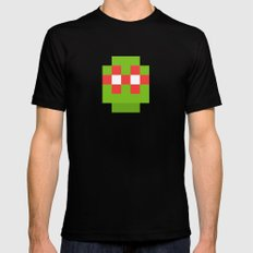 hero pixel green red Black Mens Fitted Tee MEDIUM