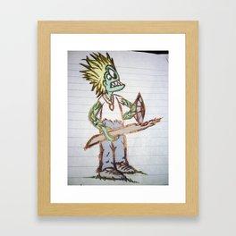 frog man Framed Art Print