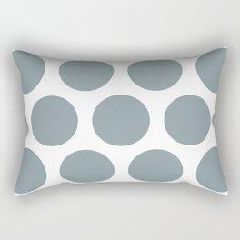 Large Polka Dots: Neutral Blue Rectangular Pillow