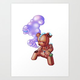 TattedTeddy 2 Art Print