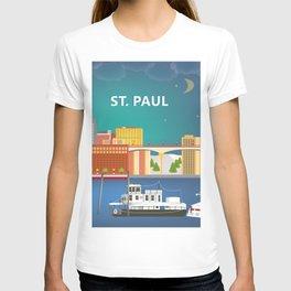 St. Paul, Minnesota - Skyline Illustration by Loose Petals T-shirt