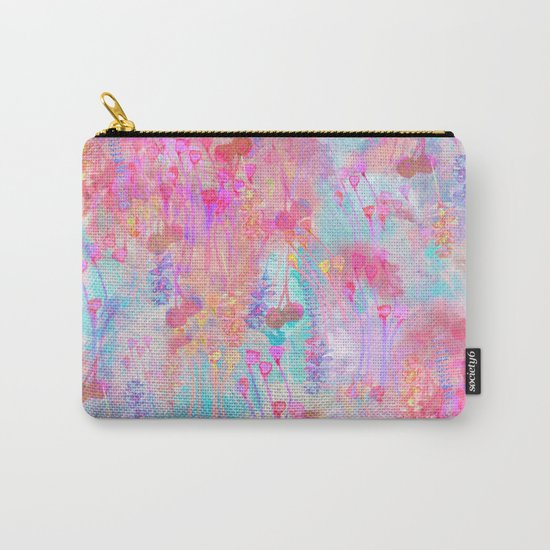 Floral Blush Carry-All Pouch