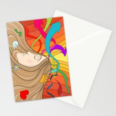 LOST IN HER DREAMS Stationery Cards