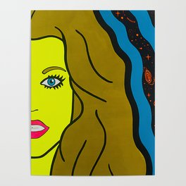 Queen of The Galaxy - sci fi pop art painting Poster