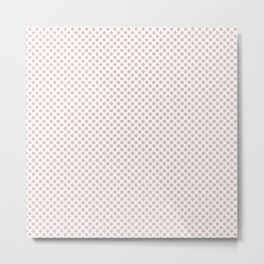 Lotus Polka Dots Metal Print