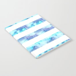 Blue & Purple Watercolor Stripes Notebook