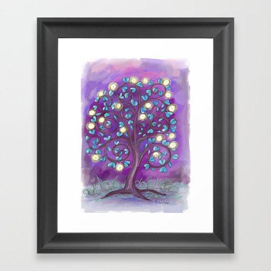 Violet Mystic Tree Framed Art Print