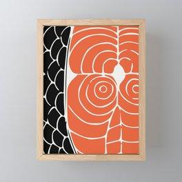 Sashimi food art Framed Mini Art Print