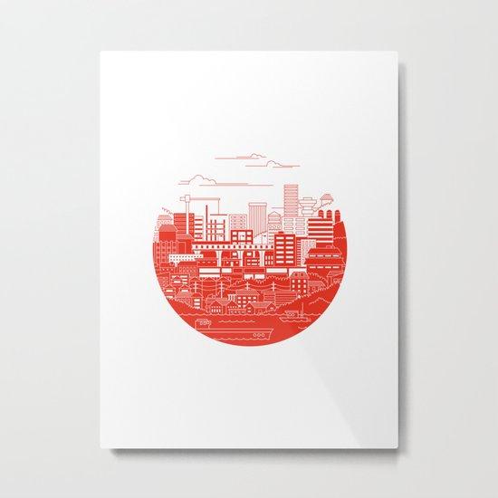 Rebuild Japan Metal Print