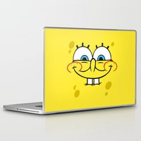 spongebob Laptop & iPad Skins featuring Spongebob Naughty Face by Cute Cute Cute
