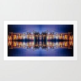 Vancouver Mirrored Art Print