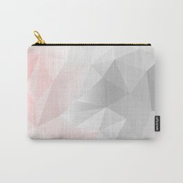 pink and gray geometric low poly background Carry-All Pouch