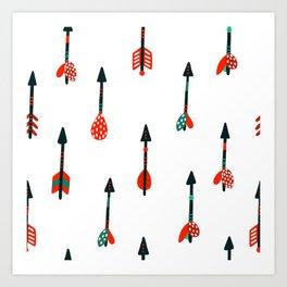 boho arrows Art Print