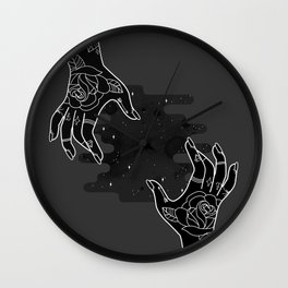 Inverted hands of creation Wall Clock