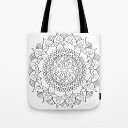hand drawn mandala art Tote Bag