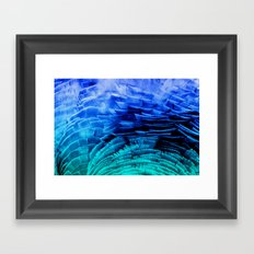 RUFFLED BLUE Framed Art Print