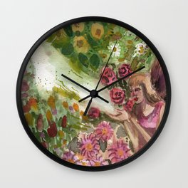 the fairy in your magic garden Wall Clock