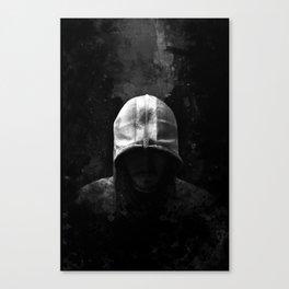 Modern Assassin Hood - B&W Canvas Print