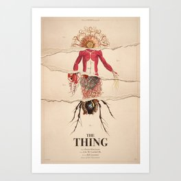 The Thing Alternative Film Poster Kunstdrucke