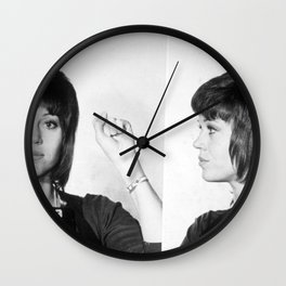 Jane Fonda Mug Shot Horizontal Wall Clock