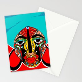 African Mask Stationery Cards