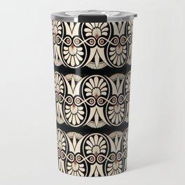 Vintage Grecian Geometric Pattern and Design Travel Mug