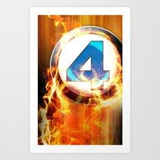 Fantastic Four _ Human Torch Art Print