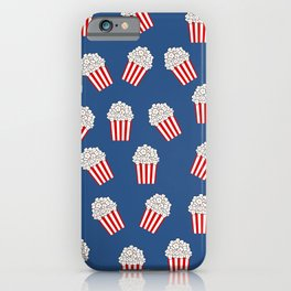Cute Popcorn Bucket in red and blue iPhone Case