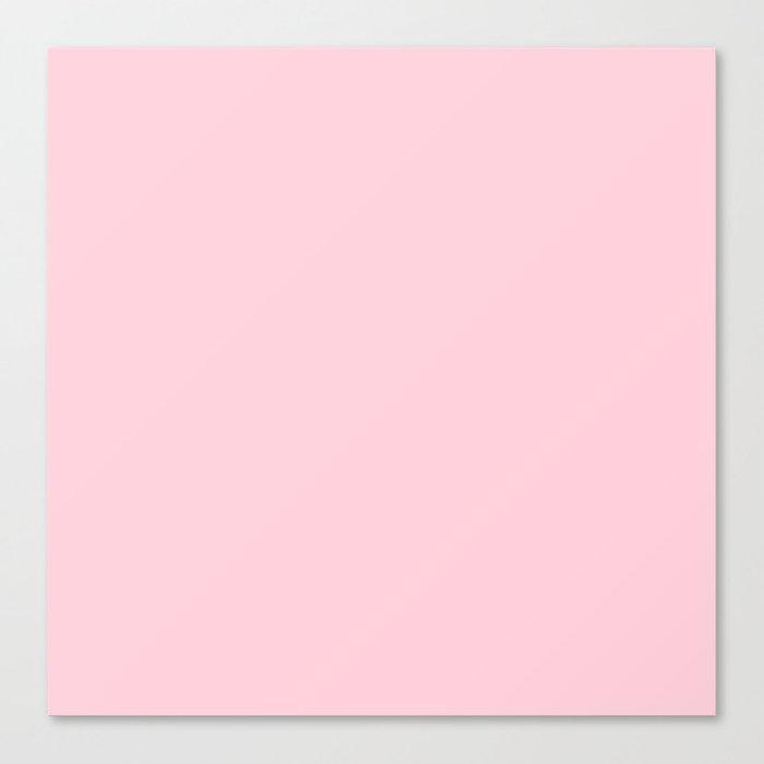Light Soft Pastel Pink Solid Color Leinwanddruck