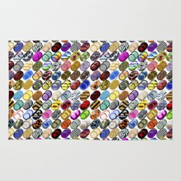 Cylinder shapes with random colors II Rug