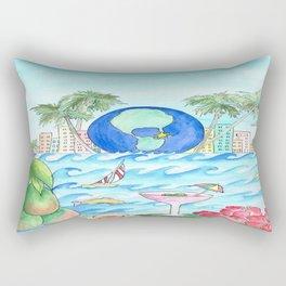 Miami Caliente! Rectangular Pillow