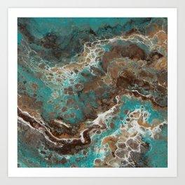 Water Flow, Abstract Acrylic Flow Art Art Print