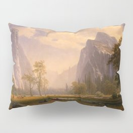 Looking Up The Yosemite Valley 1865 By Albert Bierstadt | Reproduction Painting Pillow Sham