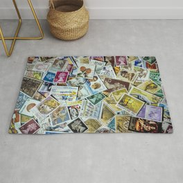 Postage Stamp Collection Rug